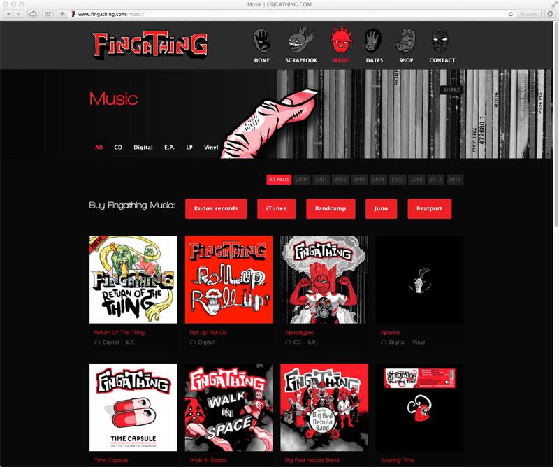 Fingathing - Musik